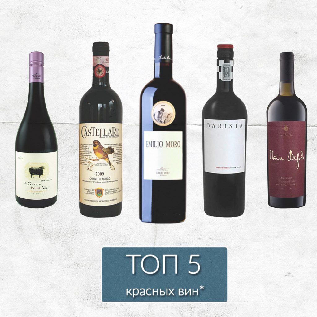Рейтинг красных вин лета-осени 2018