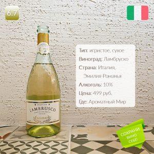 Binelli Lambrusco Bianco Dell Emilia Secco обзор и дегустация