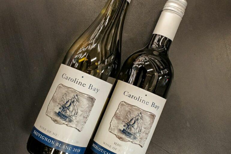 Caroline Bay Merlot-Cabernet Sauvignon и Caroline Bay Sauvignon Blanc 2018