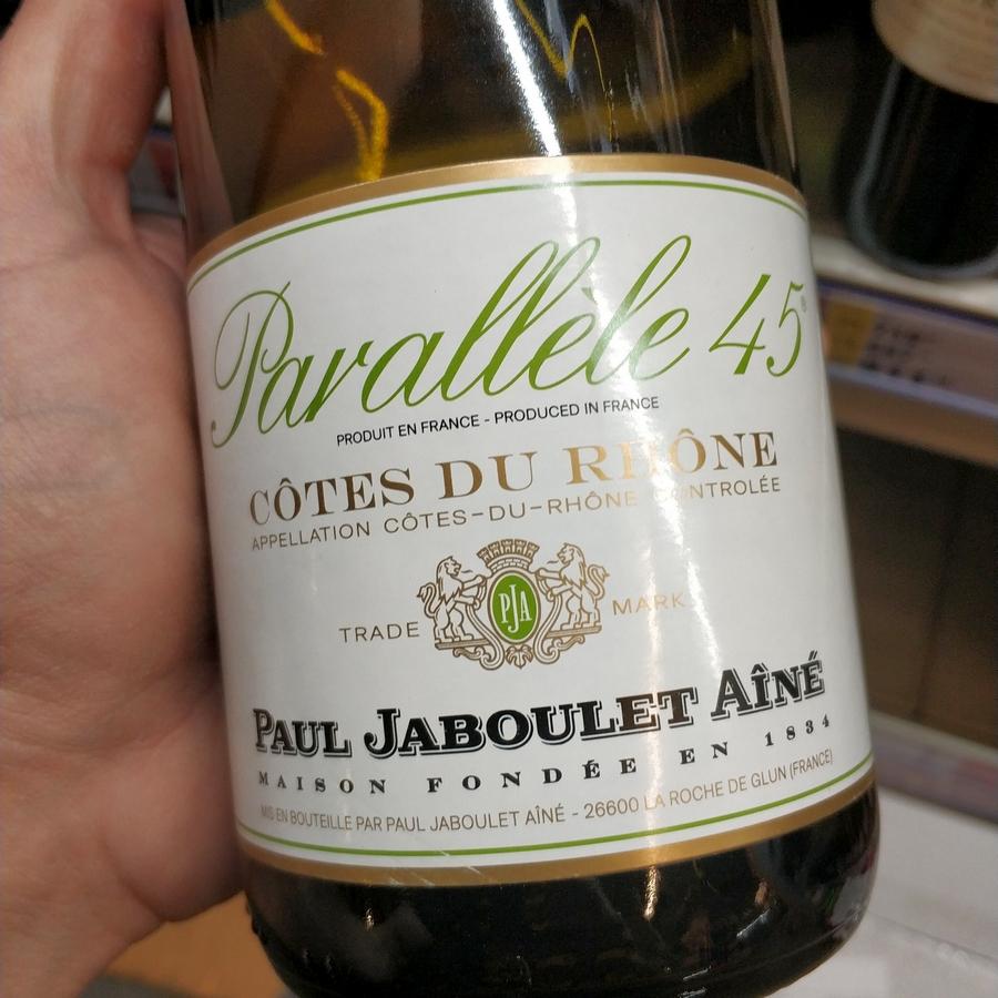 "вино в метро Paul Jaboulet Aine, ""Parallele 45"" Blanc"
