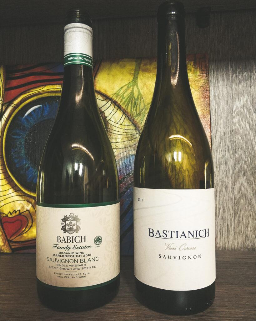 Babich Wines, «Family Estates» Headwaters Organic Sauvignon Blanc 2018 vs Bastianich, «Vigne Orsone» Sauvignon, Friuli Colli Orientali DOC