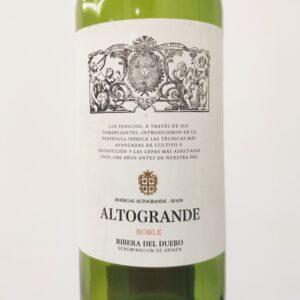 обзор вина Altogrande Roble, 2016 красное сухое