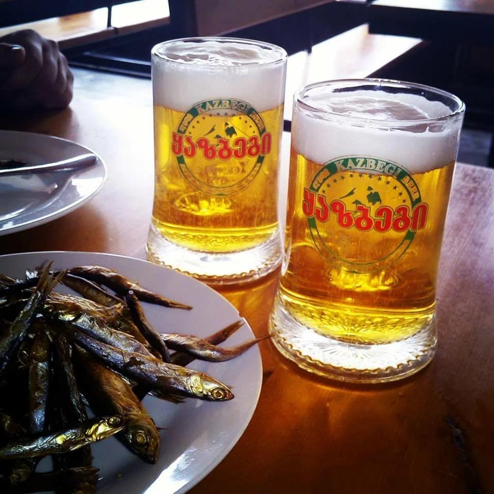 Kazbegi Beer -  где попить пива и поесть в Тбилиси
