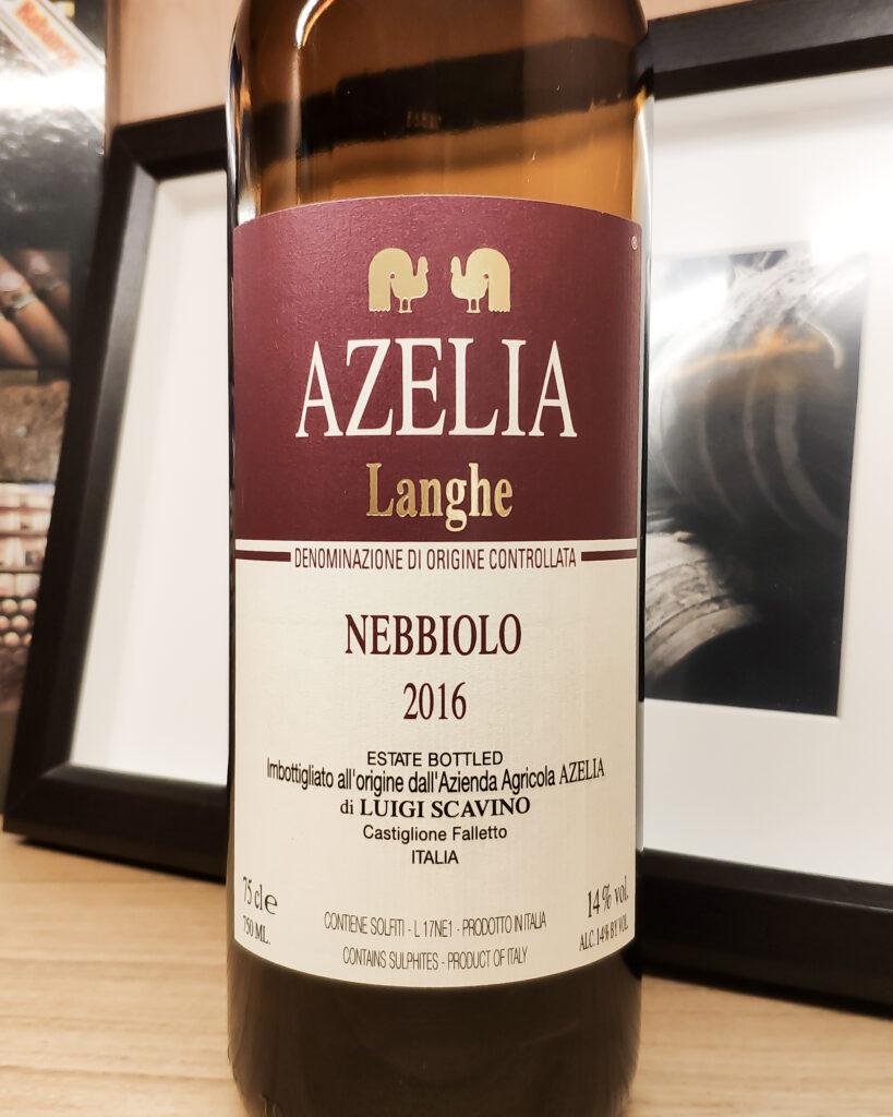 Обзор и отзыв на вино Nebbiolo Langhe DOC Azelia