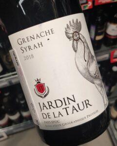 Отзыв на вино Jardin de la Taur Grenache Syrah, 2018