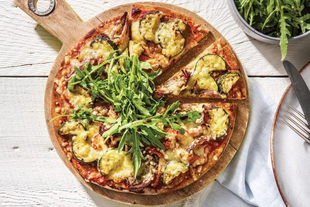 Пицца и вино: вегетарианская пицца