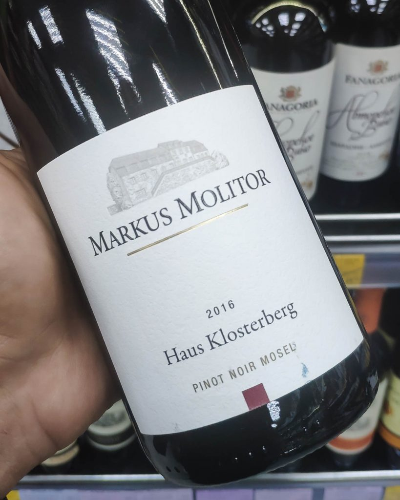 Отзыв на вино Markus Molitor Haus Klosterberg Pinot Noir, 2015